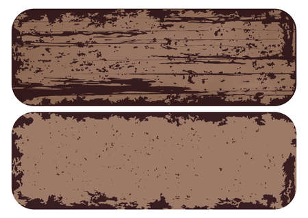 Illustration for texture rusted metal, background of grunge steel with iron frame. vector illustration - Royalty Free Image