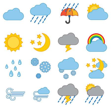 Weather icon set modern trendy  vector illustration