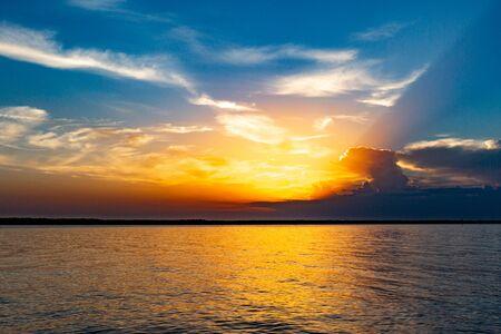Foto de Outdoor Sunset by Lake - Imagen libre de derechos