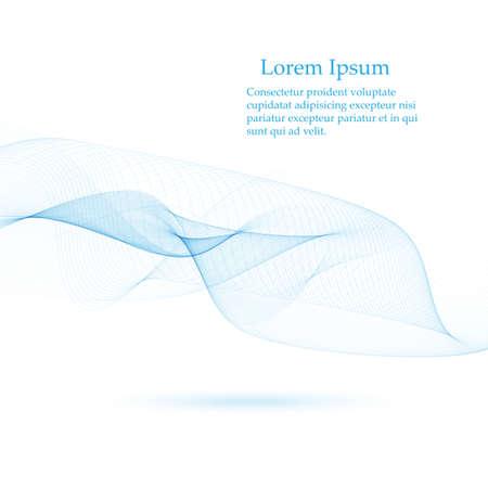 Illustration pour Abstract smooth color wave vector. Curve flow blue motion illustration. Smoke design. - image libre de droit
