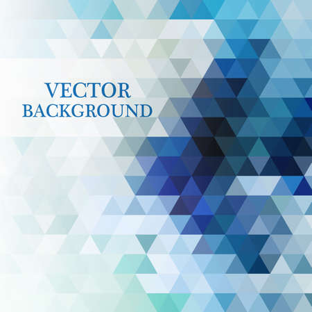 Illustration pour Abstract geometric background with transparent triangles. Vector illustration. - image libre de droit