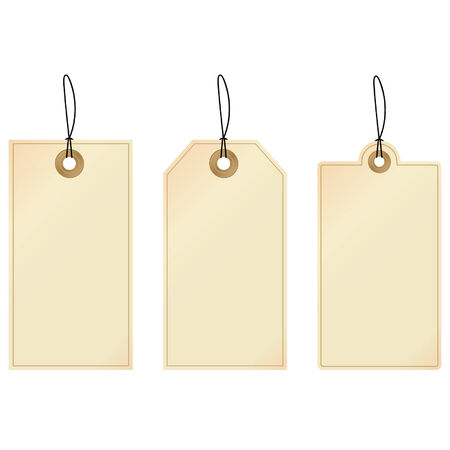 Tags - set of decorative tags
