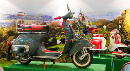 Old Fashion Vespa Italian Motorcycle with Mod Style