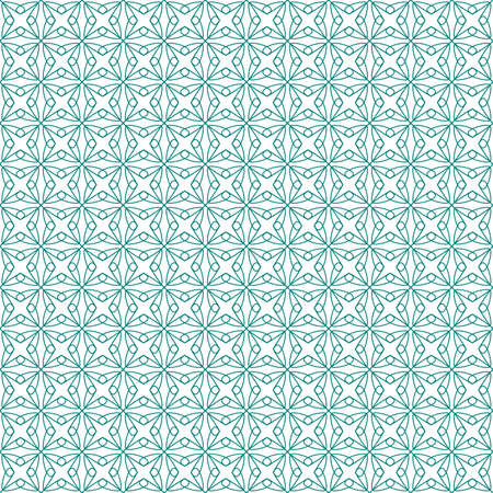Vector seamless illustration of green tangier grid, abstract guilloche background