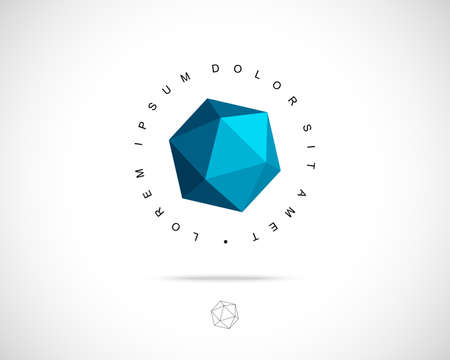 Ilustración de Abstract Vector Logo Design Template. Creative 3d Concept Icon - Imagen libre de derechos