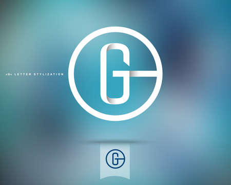 Abstract Vector Logo Design Template. Creative Concept Round Icon. Letter G Stylization