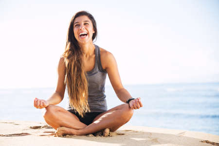 Morning Yoga Meditation by the Beach