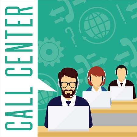 customer service concept. Call center.