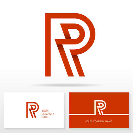 Letter R logo icon design template elements Illustration. Letter S logo icon design vector sign. Business card templates.