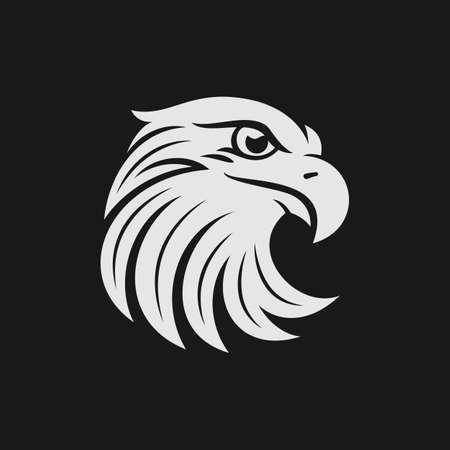 Foto de Eagle head logo or icon in one color. Stock vector illustration. - Imagen libre de derechos