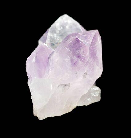 Foto für Several crystals of translucent pink quartz isolated on a black background - Lizenzfreies Bild