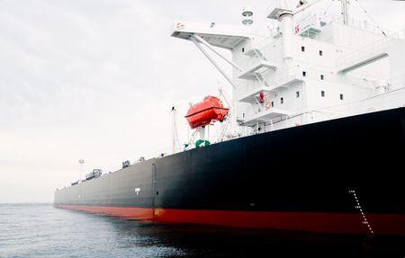 115,000 ton oil-tanker moored offshore.