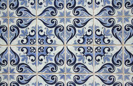 Traditional Portuguese azulejos - painted ceramic tilework