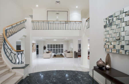 Luxury Mansion entrance with marble floor