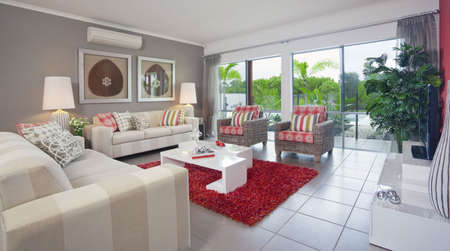 living room in new modern townhouse