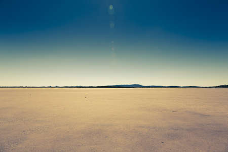 dry lake in rural australia