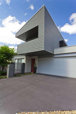 Modern Australian house front, vertical