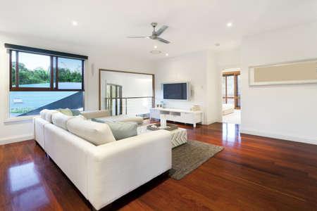 Modern living room in stylish mansion