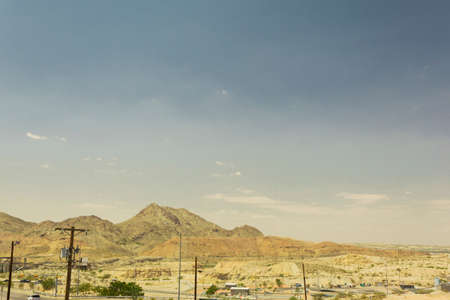 desert mountain landscape in El Paso, Texas