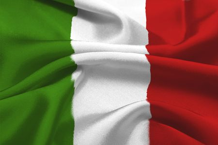 The Green, white and red italian flag