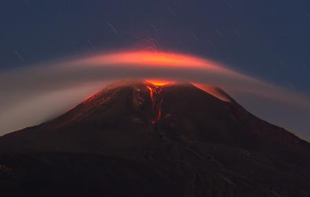Eruption of the volcano etna