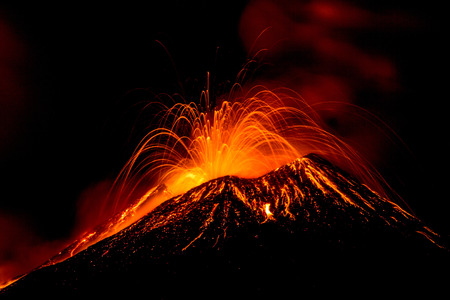 Eruption of the volcano \Etna\ in Sicily, Italy