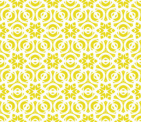 Illustration pour Seamless geometric pattern with floral style ornament on color background. For greeting cards, invitations, cover book, fabric, scrapbooks. - image libre de droit