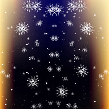 dark blue background with snowflake. vector illustration