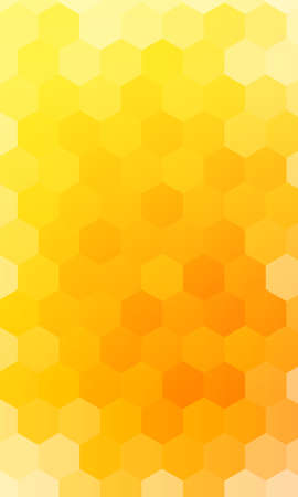 hexagons on a yellow, orange color banner. geometric pattern with gradient. vector. for design
