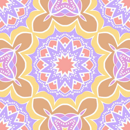Seamless texture of floral ornament. Vector illustration. For the interior design, printing, web and textile, fashion print