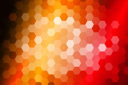 bright fire color hexagon background. vector illustration. for design, presentation