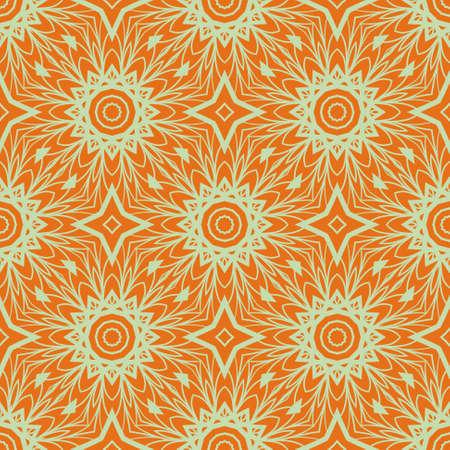 Illustration pour Vector illustration. pattern with floral mandala, decorative seamless ornament. design for print fabric, modern bandana - image libre de droit
