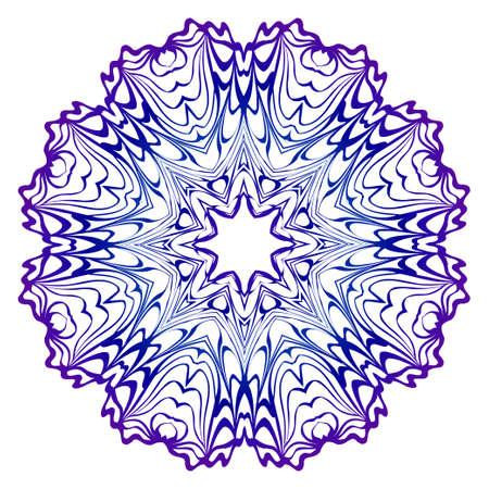 Illustration pour Pattern of mandala. Vector illustration. Modern Decorative floral color mandala. Decorative Cicle ornament. Floral design. Anti-stress therapy pattern - image libre de droit
