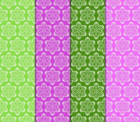 Illustration pour set of color decorative floral ornament. modern pattern. for interior design, textile, wallpaper. seamless vector illustration. - image libre de droit