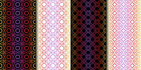 Illustration pour Set of Geometric Pattern. Seamless Texture Color Background. Vector illustration - image libre de droit
