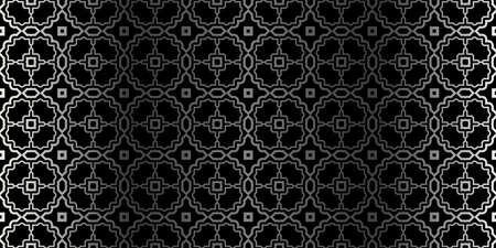 Illustration pour Seamless Geometrical Texture. Vector Illustration. For Design, Wallpaper, Fashion, Print. Charcoal silver color. - image libre de droit