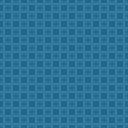 Illustration pour Vector Illustration. Pattern With Geometric Ornament, Decorative Border. Design For Print Fabric. Paper For Scrapbook. Blue color. - image libre de droit