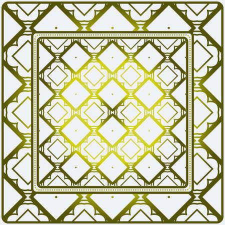 Illustration pour Template Print For Fabric. Pattern Of Geometric Ornament With Border. Illustration. Seamless. For Print Bandana, Shawl, Carpet. - image libre de droit