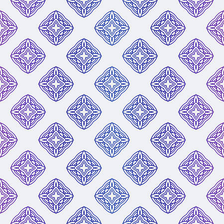 Illustration pour Beautiful Seamless Geometric Ornament Vector Illustration. Abstract - image libre de droit