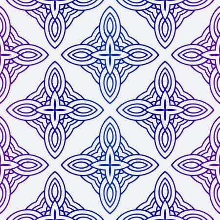 Illustration pour Vector Illustration. Pattern With Geometric Ornament, Decorative Border. Design For Print Fabric. - image libre de droit