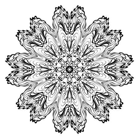 Foto für Decorative Ornament With Mandala. Home Decor Background. Vector Illustration. For Coloring Book, Greeting Card, Invitation, Tattoo. Anti-Stress Therapy Pattern. White, black. - Lizenzfreies Bild