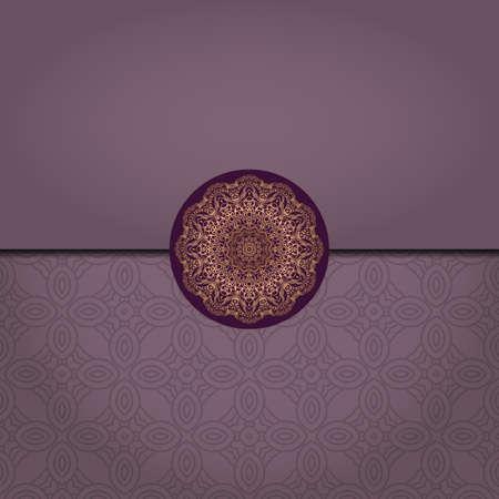 Illustration pour Vector Mandala template pattern on color background for card, poster, flyer, invitation etc. - image libre de droit