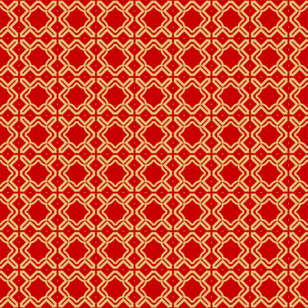 Illustration pour Modern Stylish Geometry Seamless Pattern Art Deco Background. Luxury Texture For Wallpaper, Invitation. Vector Illustration. Red gold color. - image libre de droit