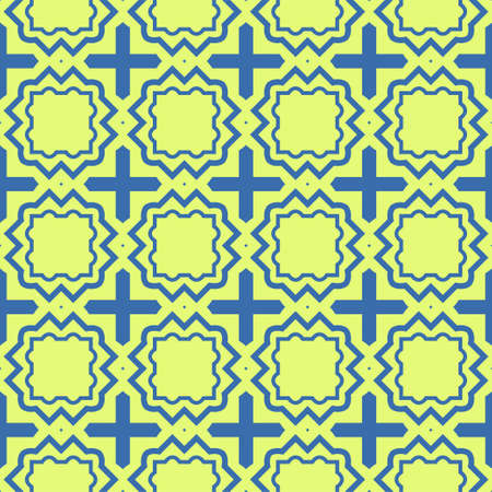 Illustration pour Seamless Pattern With Abstract Geometric Style. Repeating Sample Figure And Line. Vector illustration. Blue, light green color. - image libre de droit