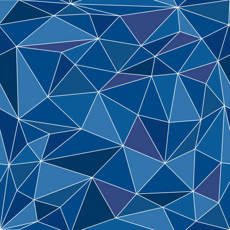 Photo pour Seamless pattern made of polygonal triangles, vector illustration - image libre de droit