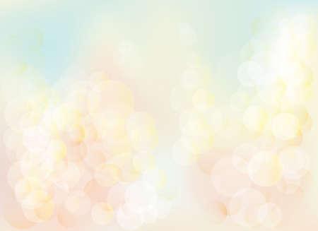 Ilustración de Blurred bokeh pastel lights background Abstract background with pastel colors bokeh. The esp file contains gradient mesh. - Imagen libre de derechos