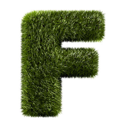 grass alphabet - F