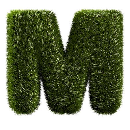 grass alphabet - M