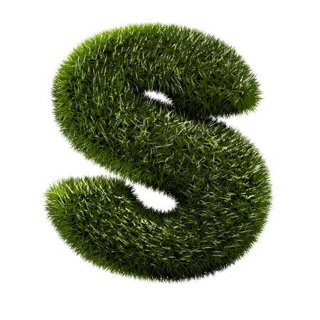 grass alphabet - S