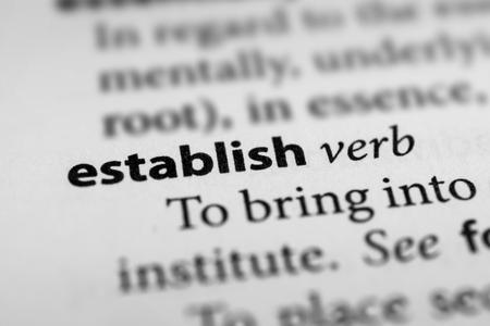 Establish